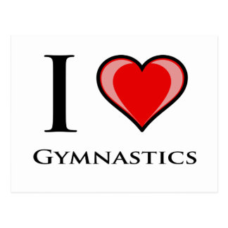 Carte Postale J'aime la gymnastique
