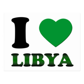 CARTE POSTALE J'AIME LA LIBYE