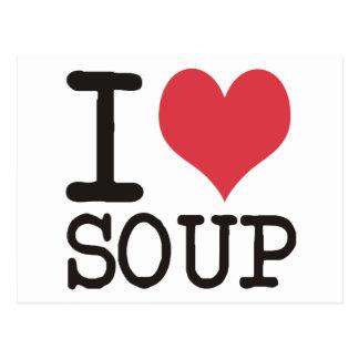 Carte Postale J'aime la soupe - végétarien - des produits de