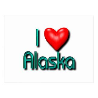 Carte Postale J'aime l'Alaska