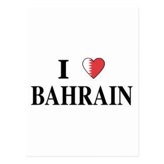 Carte Postale J'aime le Bahrain
