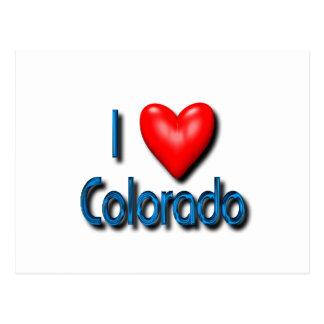 Carte Postale J'aime le Colorado