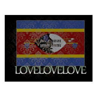 Carte Postale J'aime le cool du Souaziland