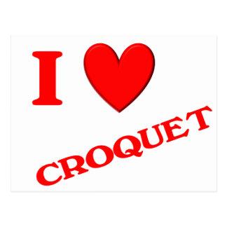 Carte Postale J'aime le croquet