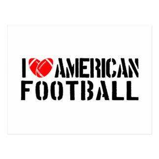 Carte Postale J'aime le football américain