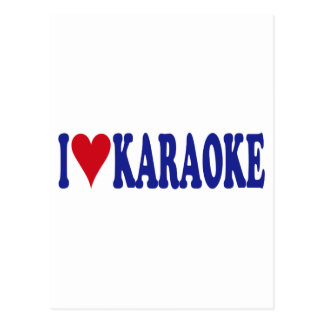 Carte Postale J'aime le karaoke