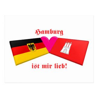 Carte Postale J'aime le lieb de MIR d'IST de Hambourg