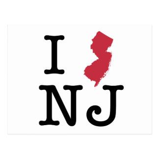 Carte Postale J'aime le New Jersey