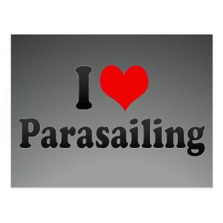 Carte Postale J'aime le parachute ascensionnel
