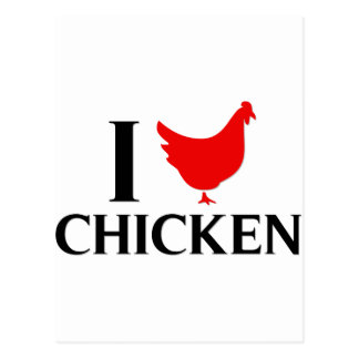 Carte Postale J'aime le poulet