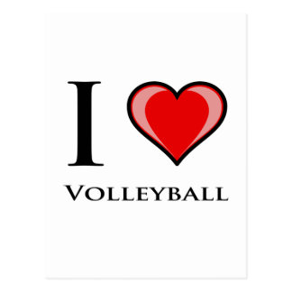Carte Postale J'aime le volleyball