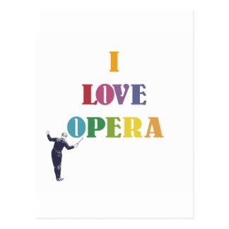 Carte Postale J'aime l'opéra