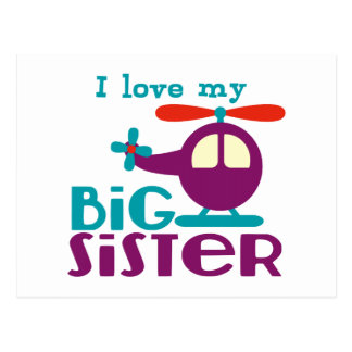 Carte Postale J'aime ma grande soeur