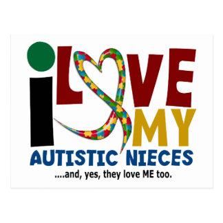 Carte Postale J'aime ma SENSIBILISATION SUR L'AUTISME autiste