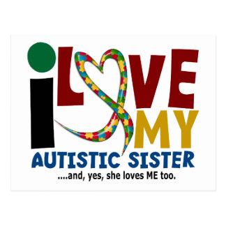 Carte Postale J'aime ma SENSIBILISATION SUR L'AUTISME autiste de