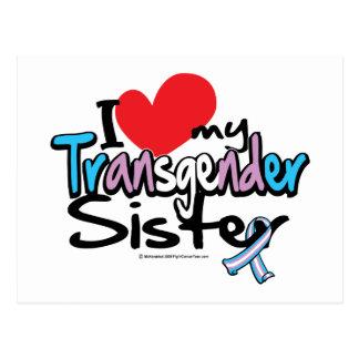 Carte Postale J'aime ma soeur de transsexuel