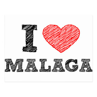 Carte Postale J'aime Málaga