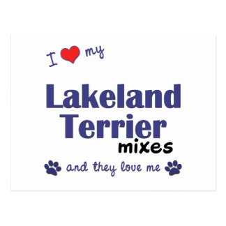 Carte Postale J'aime mes mélanges de région des lacs Terrier