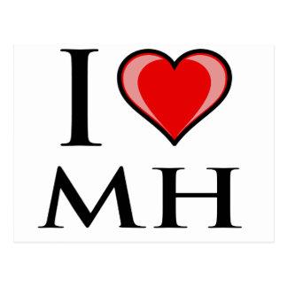 Carte Postale J'aime MH - Marshall Islands