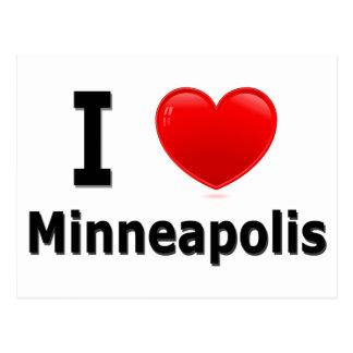 Carte Postale J'aime Minneapolis