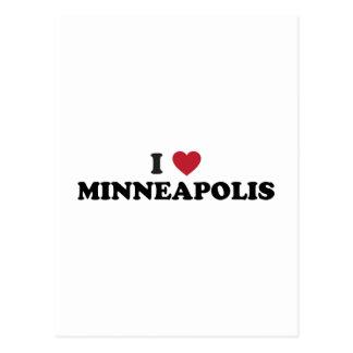 Carte Postale J'aime Minneapolis Minnesota