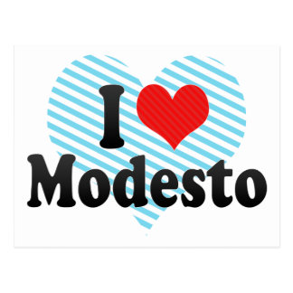 Carte Postale J'aime Modesto