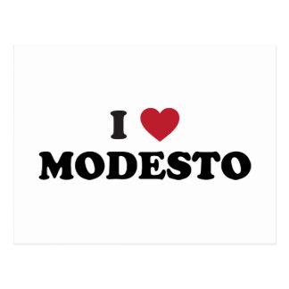Carte Postale J'aime Modesto la Californie