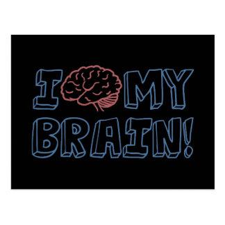 Carte Postale J'aime mon cerveau