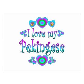 Carte Postale J'aime mon Pekingese