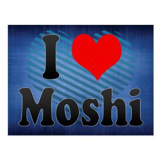 Carte Postale J'aime Moshi, Tanzanie