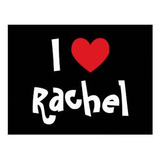 Carte Postale J'aime Rachel
