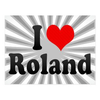 Carte Postale J'aime Roland