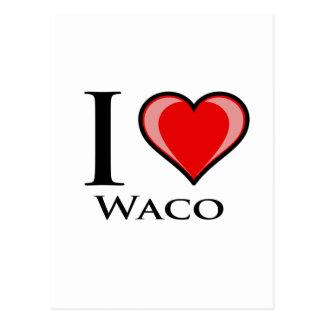 Carte Postale J'aime Waco