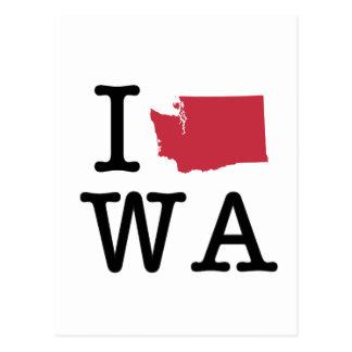 Carte Postale J'aime Washington