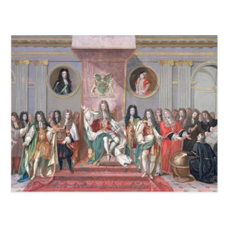 Carte Postale James II (1633-1701) recevant le Sc mathématique