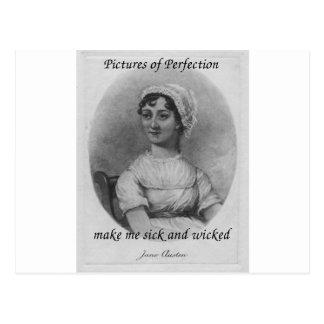 Carte Postale Jane Austen est malade et mauvais