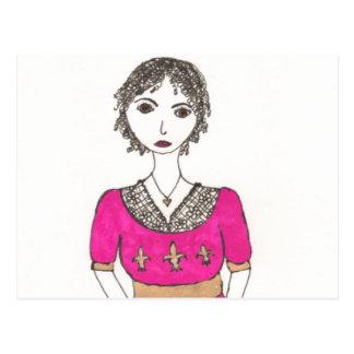 Carte Postale Jane Austen Fleur De Lis
