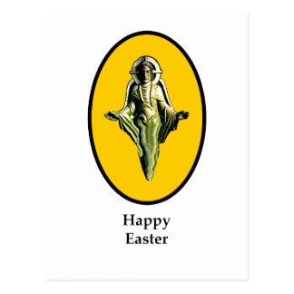 Carte Postale Jaune heureux de Cantorbéry d'image de Pâques le