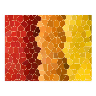 Carte Postale Jaune orange rouge d'automne en verre souillé de