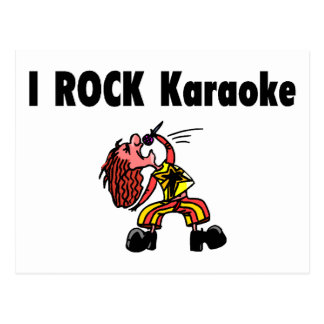 Carte Postale Je bascule le karaoke