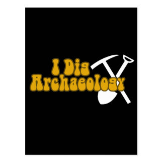 Carte Postale Je creuse l'archéologie