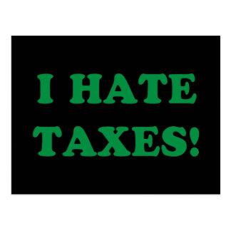 Carte Postale Je déteste des impôts
