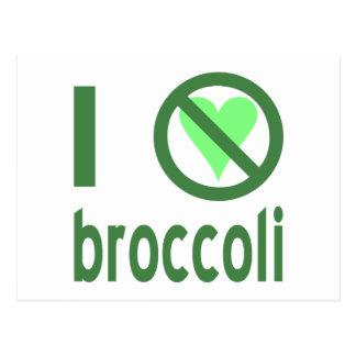 Carte Postale Je déteste le brocoli