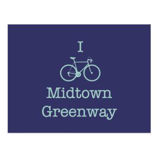 Carte Postale Je fais du vélo le Greenway de Midtown
