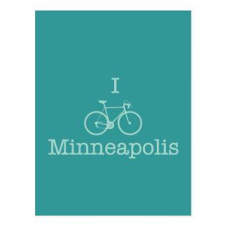 Carte Postale Je fais du vélo Minneapolis