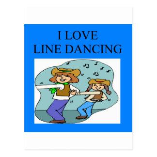 Carte Postale je ligne d'amour danse
