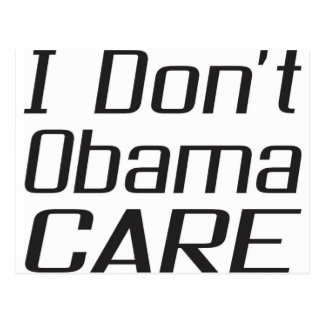 Carte Postale Je ne fais pas conception d'obamacare