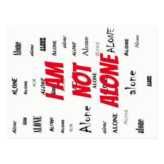 Carte Postale Je ne suis pas seul