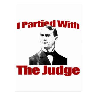 Carte Postale Je Partied avec le juge