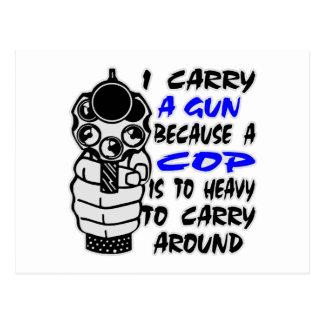 Carte Postale Je porte un pistolet puisqu'une cannette de fil